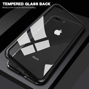 iPhone Black Clear Magnetic Adsorption Metal Case